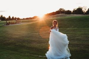 Bride on Golf Course